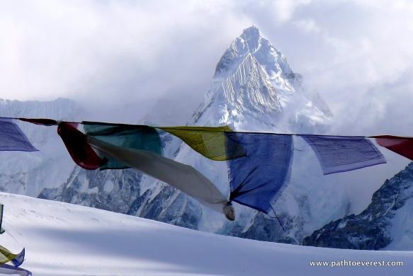 Yak Horn peak overseeing Nangpa La Pass