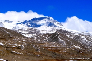 Cho Oyu from Chinese Base Camp (15,700')