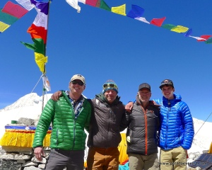 Himalayan Trilogy Team - Jim Walkley, Willie Benegas, Mike Moniz and Matt Moniz