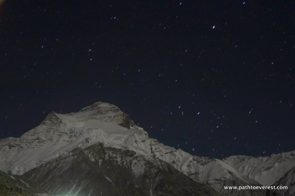 Cho Oyu at night on 5/7/2014